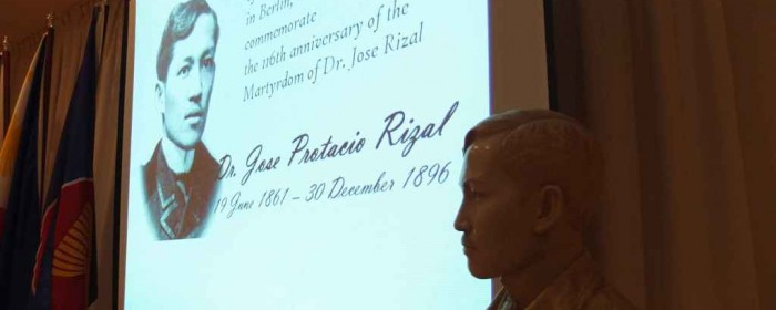 Philippine Embassy in Berlin Commemorates 116th Anniversary of Rizal's Martyrdom