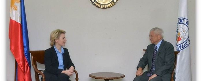 German Federal Minister of Labour and Social Affairs Calls on Secretary Albert F. del Rosario