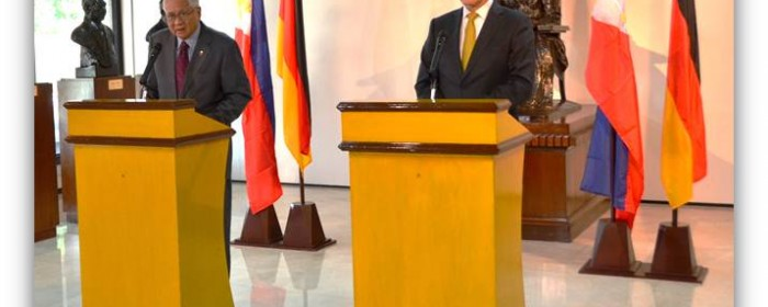 Statement of Secretary del Rosario for the Joint Press Briefing with Foreign Minister Westerwelle