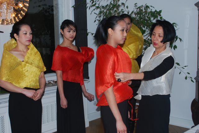 A Farewell, Women's Day, and Philippine Banana Fabric