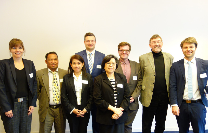 Ambassador Thomezcek with the speakers and organizers of the seminar, including Ms. Ruby De Guzman of DOE (3rd from left) and Engr. Andres Tuates, Jr. of DA (2nd from left), and Mr. Tobias Petersen of GPCCI (3rd from right).