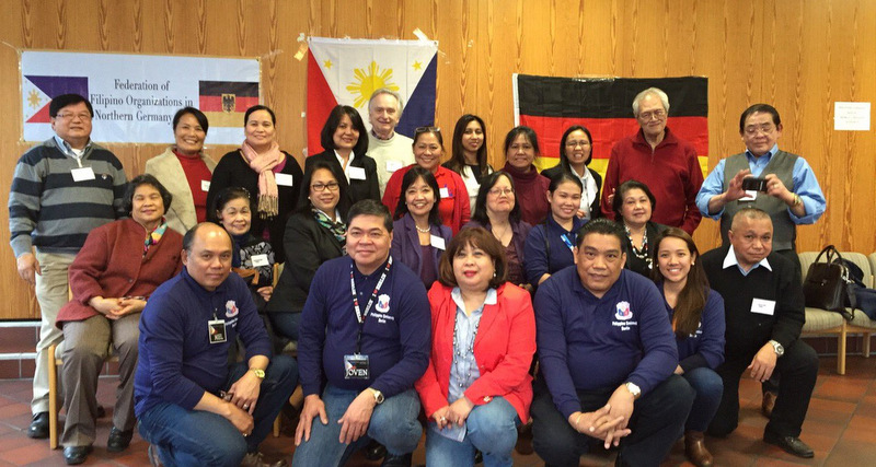Federation of Filipino Organizations in Northern Germany (FFONG) Officers and members with the Philippine Embassy Team in Hamburg