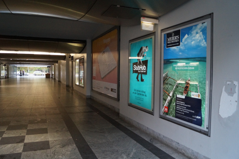 Boracay billboard in Spandau Train Station, Berlin