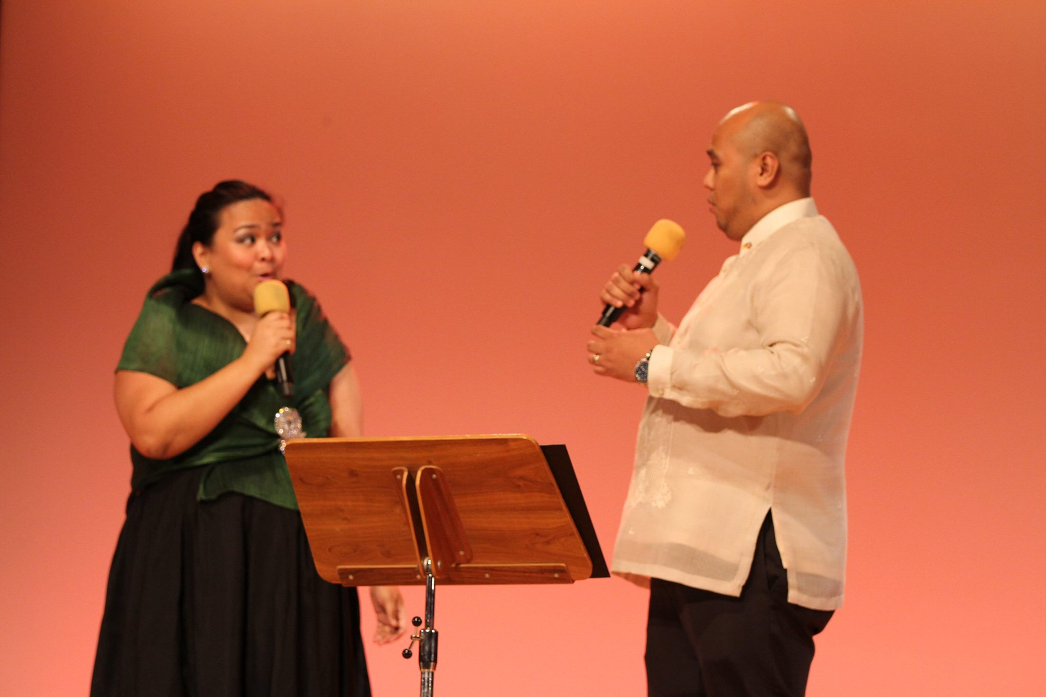 ultural Attaché Mylah Rubio and Jose Mari Rubio serenaded guests with popular Filipino songs