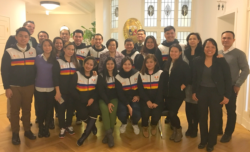 The Philippine delegation paid a courtesy visit at the Philippine Embassy a day after their competition