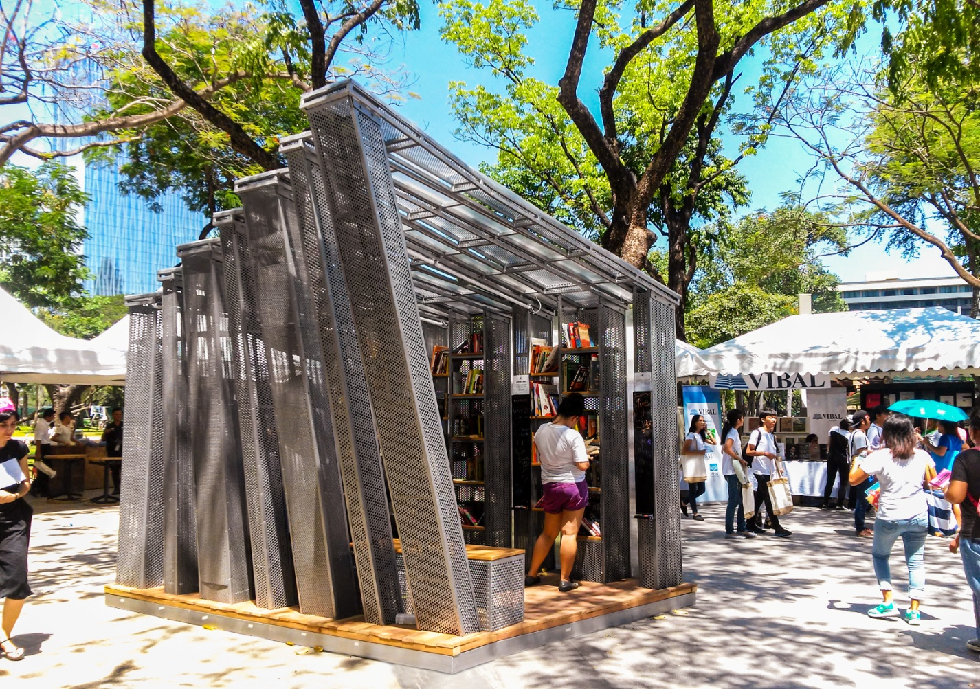 The Book Stop Project at Ayala Triangle                            Gardens, Makati City, Philippines