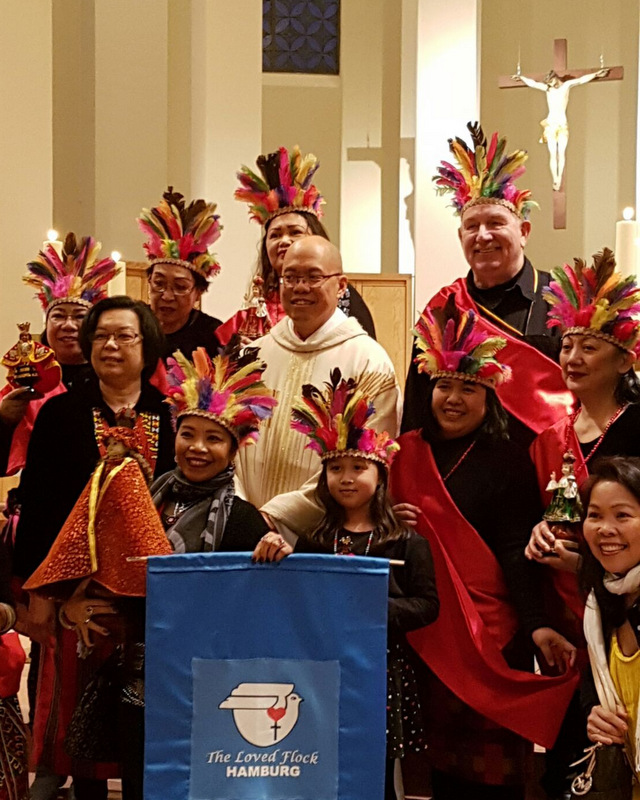 Members of the Filipino-German community in Hamburg