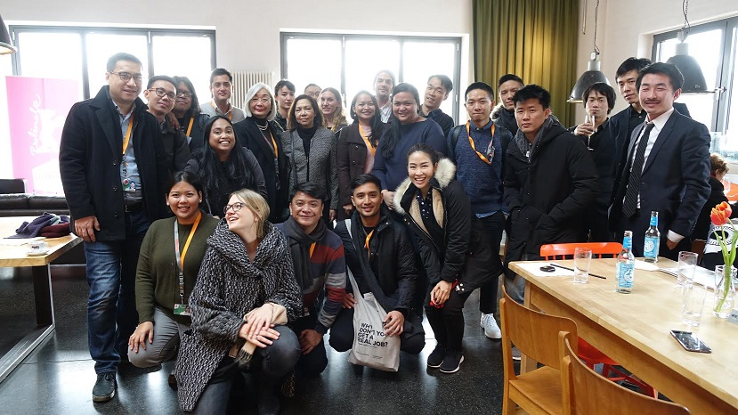other participants from South East Asia during the Reception hosted by Ms. Michiko Teramoto of the Manfred Durniok Foundation, a major sponsor for invited talents from South East and South Asia at the Berlinale.