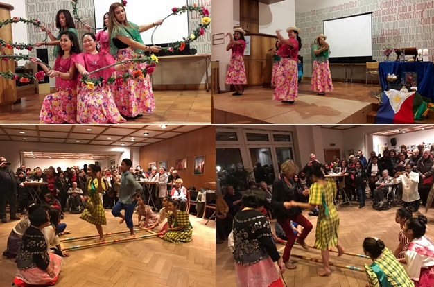 Filipino dances were also showcased as part of the program following the service for Weltgebetstag in (top photo) Reiden and in (bottom photo) Berlin.