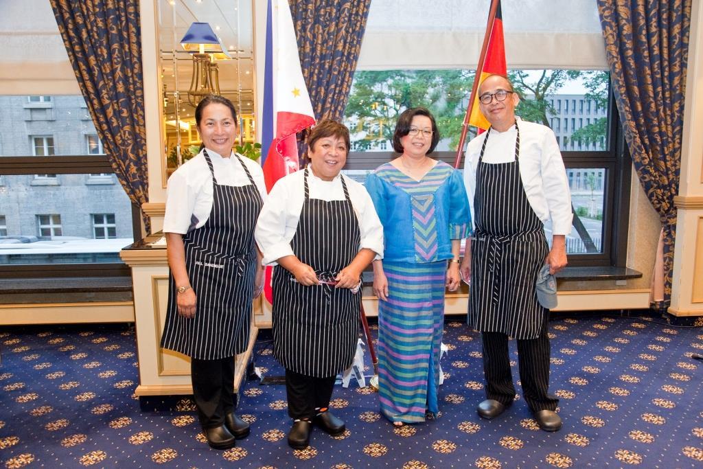 Kulinarya Team members, (from left) Jill Sandique, Myrna Segismundo, and Raul Ramos