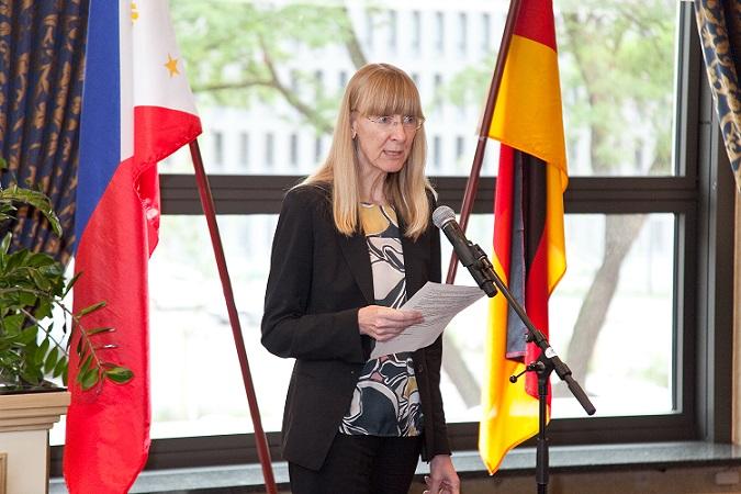 German Federal Foreign Office Director General Lepel delivering her remarks