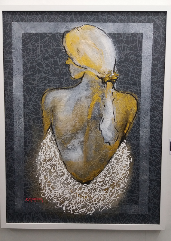 Human Figure 2 by Kevin Cubinar (acrylic on canvas)