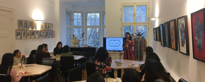 Filip+Inna founder shares work with indigenous artisans  at Philippine Embassy in Berlin