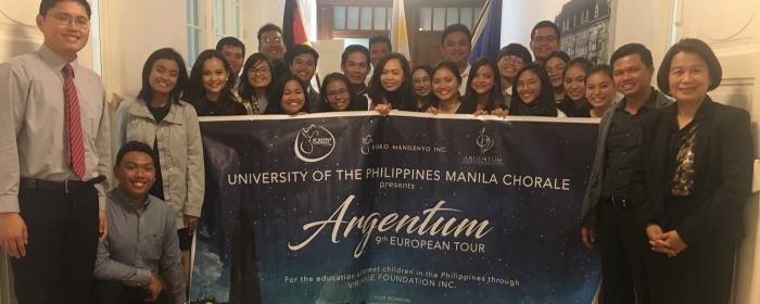 UP MANILA CHORALE SHARES TALENTS WITH  PHILIPPINE EMBASSY