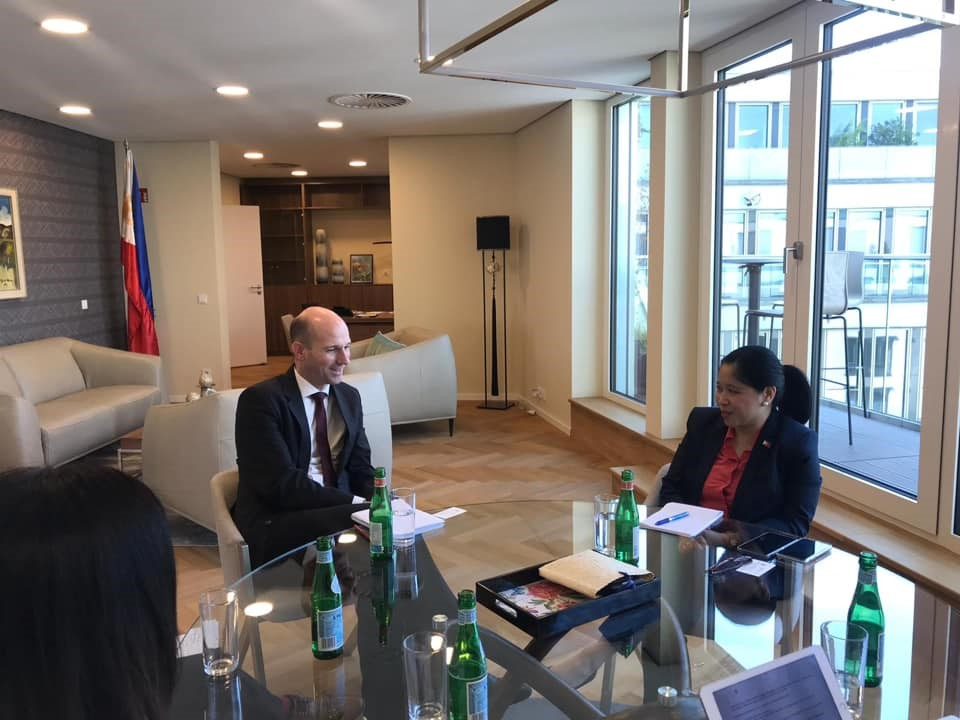 Philippine Embassy Meets with German-PH Chamber of Commerce Executive Director