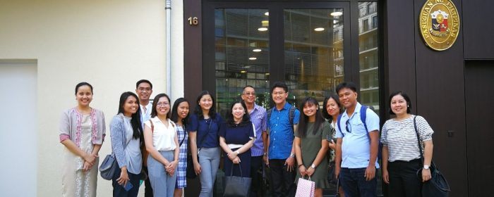 UPLB graduate students visit Embassy as part of Germany study tour