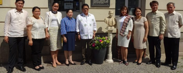 SENATOR LEGARDA, SECRETARY BELLO HONOR RIZAL IN BERLIN ON 158TH BIRTH ANNIVERSARY