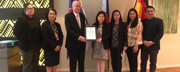 Retired Honorary Consul Recognized by Philippine Government
