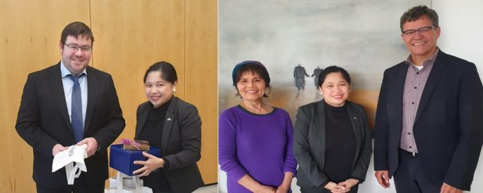Philippine Embassy Meets Officials of Newly-Formed Agency for Healthcare Professionals and Filipino Community in Saarland