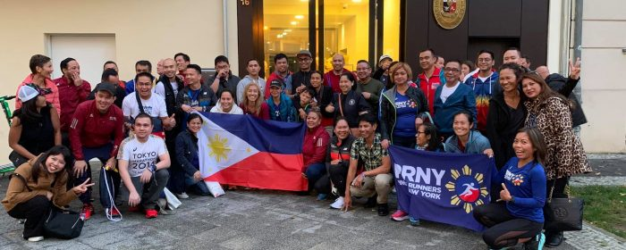 PHILIPPINE EMBASSY PROVIDES MORALE AND CARBO BOOST TO FILIPINO BERLIN MARATHON RUNNERS
