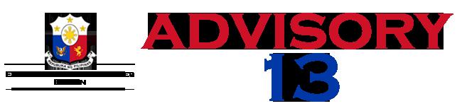 Public Advisory No. 13