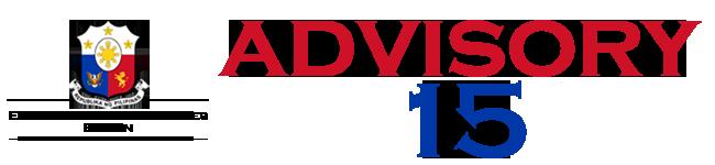 Public Advisory No. 15