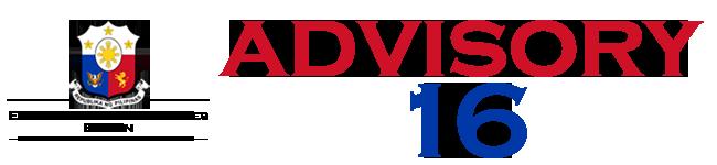 Public Advisory No. 16