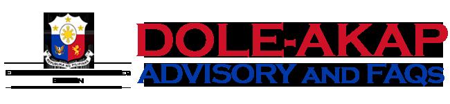 DOLE-AKAP Advisory and FAQs