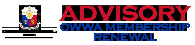 OWWA Membership Renewal