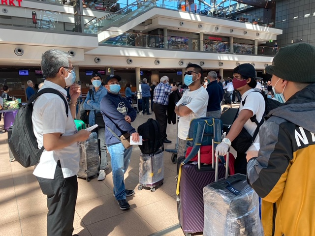 Another Batch of Filipino Crew of Sea Chefs and Tui Cruises Return to the Philippines