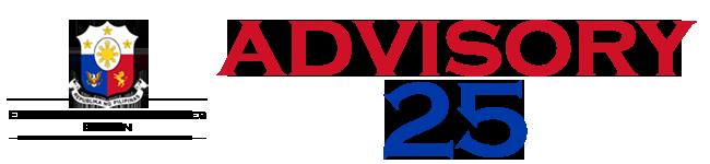 Public Advisory No. 25