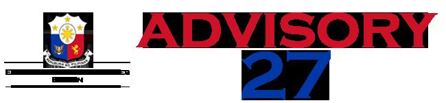 Public Advisory No. 27