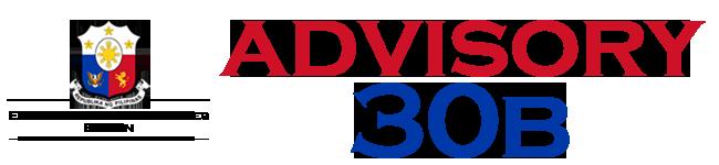Public Advisory No. 30B