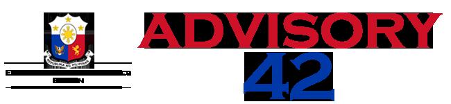 Public Advisory No. 42