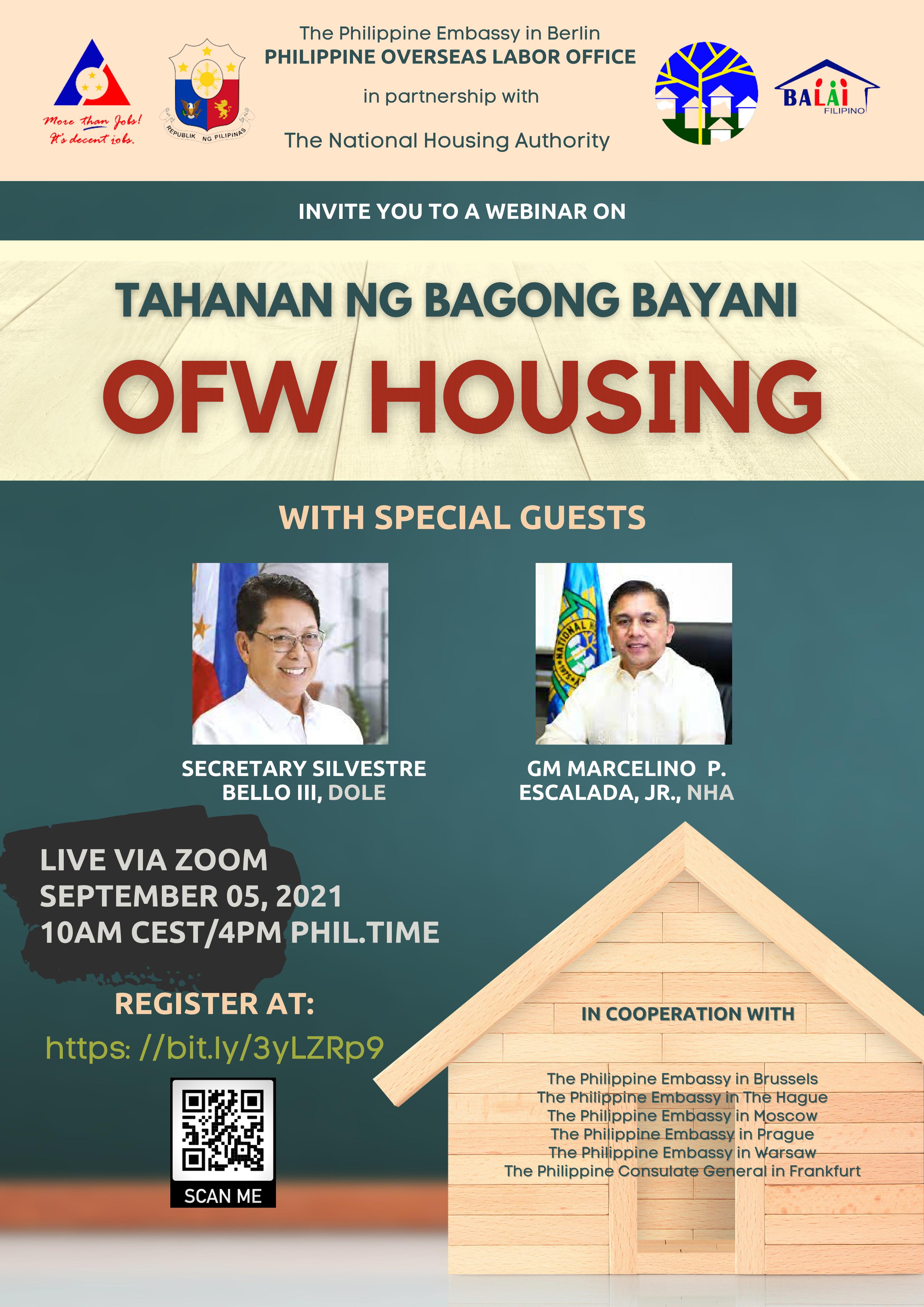 """Webinar entitled """"Tahanan ng Bagong Bayani: OFW Housing"""""""